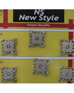 """Кнопки для одягу """"New  Style"""" 15 mm (сріблясті та золотисті), 1 кнопка - 35 грн. Арт 280"""