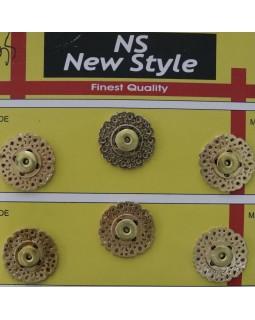 """Кнопки для одягу """"New  Style"""" 20 mm та 18 mm (темний метал, сріблясті та золотисті), 1 кнопка - 35 грн. Арт 282"""