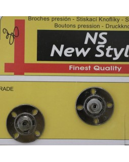 """Кнопки для одягу """"New  Style"""" 21 mm (темний метал), 1 кнопка - 30 грн. Арт 285"""