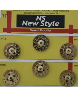 """Кнопки для одягу """"New  Style"""" 22 mm (золотисті), 1 кнопка - 30 грн. Арт 286"""