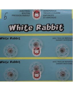 "Кнопки ""White Rabbit"" 20 mm (чорні та прозорі), 1 кнопка - 5 грн. Арт 287"