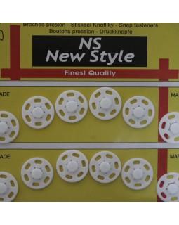 """Кнопки для одягу """"New  Style"""" білі та чорні (10 mm, 14 mm, 17 mm). Арт 293"""