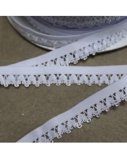 Резинка кружевна 10 mm (білого кольору), 1 метр - 10 грн. Арт 313
