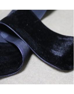 Резинка бархатна (чорного, синього та білого кольору), 1 метр - 16 грн. Арт 326