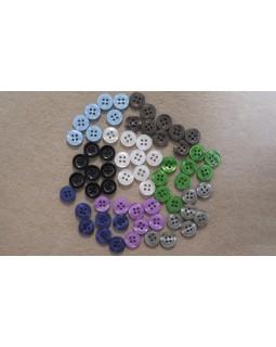 Гудзики сорочкові на 4 отвори (сині, блакитні, сірі, фіолетові, чорні, зелені, коричневі, білі). 1 гудзик - 2 грн. Арт 153