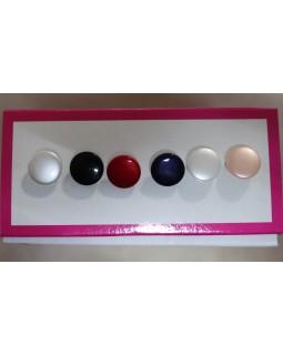 Гудзики блузочні перламутрові (сірий, чорний, червоний, синій, білий, молочний). 1 гудзик - 3 грн. Арт 156
