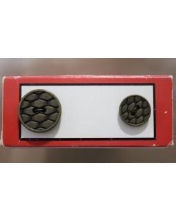 Гудзики імітація металу (бронза). Арт 169