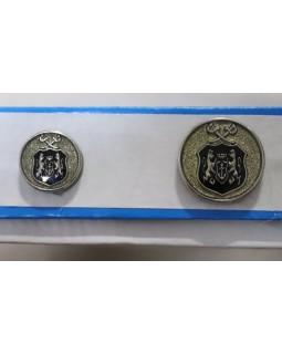 Гудзик імітація металу (з візерунком герба). Арт 190