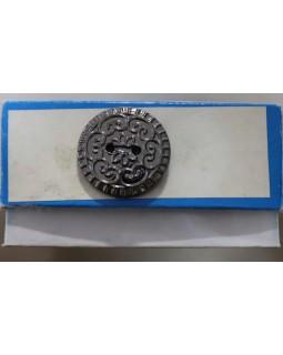 Гудзик імітація металу (темний метал) 25 mm. Арт 191