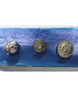 Гудзик імітація металу, 3 види. 1 гудзик - 2.50 грн. Арт 193
