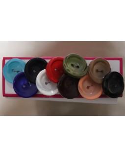 Гудзики костюмні  25 mm, (блакитний, синій, темно-синій, білий, червоний, вишневий, зелений, персиковий, коричневий, чорний). Арт 202, 1 гудзик - 7 грн.