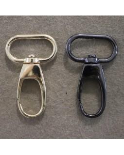 Карабіни (золотистий і темний метал), діаметр - 24 mm. Арт 377