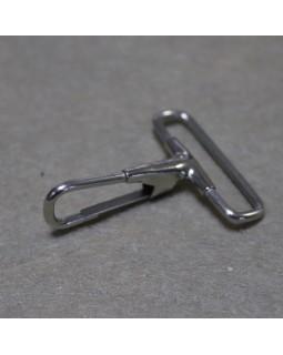 Карабін (світлий метал), діаметр - 3 см. Арт 380