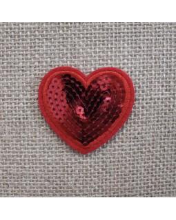 Термоаплікація серце.Арт.1352